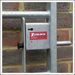 Zedlock S25G3 Metal Gate Lock on IAE Gate Frame