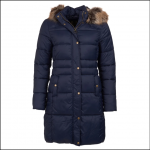 Barbour Caldbeck Ladies Quilt Jacket Navy 1