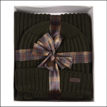Barbour Chunky Ribbed Beanie & Scarf Gift Set 1