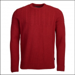 Barbour Crastill Cable Crew Jumper Rich Red 1