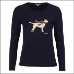 Barbour Dales Ladies Long Sleeve Tee Shirt Navy 1