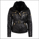 Barbour Icons Ladies International Polarquilt Jacket Black 1