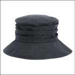 Barbour Ladies Fleece Lined Wax Sports Hat Navy