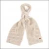 Barbour Ladies Saltburn Knitted Scarf & Beanie Set Pearl 2