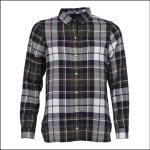 Barbour Moors Ladies Shirt Olive-Navy 1
