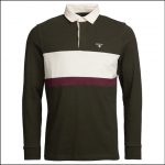 Barbour Weston Panel Rugby Shirt Forest 1