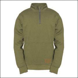 Caterpillar Mens AG Zip Pullover Sweatshirt Cypress Green