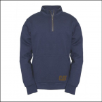 Caterpillar Mens AG Zip Pullover Sweatshirt Eclipse Navy