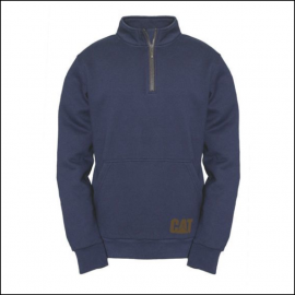 Caterpillar Mens AG Zip Pullover Sweatshirt Eclipse Navy