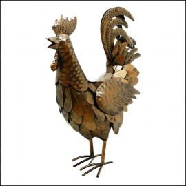 Rolson Bronze Effect Cockerel Garden Ornament 1