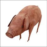 Rolson Pink Pig Metal Garden Ornament