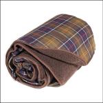 Barbour Medium Classic Tartan-Brown Dog Blanket 1