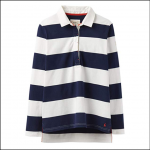 Joules Amber Cream-Navy Stripe Rugby Shirt 1
