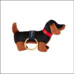 Joules Charmwell Black Dog Velvet Keyring 1