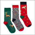 Joules Christmas Cracking Festive Socks 3pk Multi Dog 1