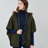 Joules Everly Navy-Check Reversible Cape 2
