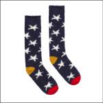 Joules Fabulously Fluffy Long Socks Navy Winter Star