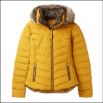 Joules Gosway Chevron Quilt Padded Jacket Caramel 1