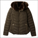 Joules Gosway Chevron Quilt Padded Jacket Heritage Green 1