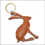 Joules Hangby Tan Leather Keyring 1