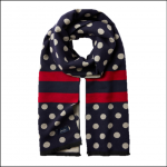 Joules Jacquelyn French Navy Spot Jacquard Scarf 1