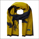 Joules Jacquelyn Gold Floral Jacquard Scarf 1