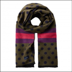 Joules Jacquelyn Green Spot Jacquard Scarf 1