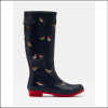 Joules Navy Printed Robins Wellies 1