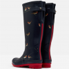 Joules Navy Printed Robins Wellies 3