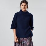Joules Sarah Knitted Poncho French Navy