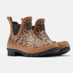 Joules Tan Leopard Short Wellibobs 3