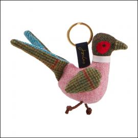 Joules Tweedle Pheasant Keyring 1