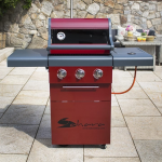 Sahara X350 3+1 Burner Gas Barbecue Red 1