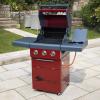 Sahara X350 3+1 Burner Gas Barbecue Red 2