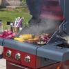 Sahara X350 3+1 Burner Gas Barbecue Red 7