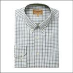 Schoffel Banbury Blue-Olive Check Shirt 1