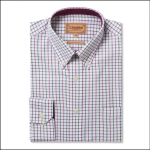 Schoffel Banbury Pink-Olive Check Shirt 1