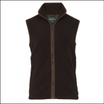 Alan Paine Aylsham Mens Peat Fleece Waistcoat 1