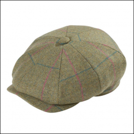 Alan Paine Combrook Ladies Juniper Tweed Country Cap 1