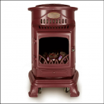 Calor Provence 3kw Portable Gas Stove Heater Burgundy