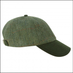 Hoggs of Fife Helmsdale Tweed Baseball Cap 1