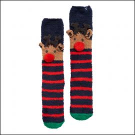 Joules Festive Fluffy Reindeer Socks 1