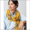 Joules Wensley Gold Floral Longline Scarf 2