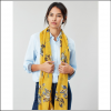 Joules Wensley Gold Floral Longline Scarf 3