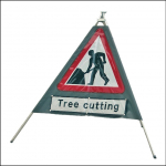 Quasar 600mm Men at Work Roll Up Sign 1