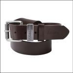 Schoffel Mens Dark Brown Leather Belt 1