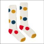 Fabulously Fluffy Long Socks Cream Large Spot 1