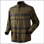 Harkila Eide Dark Olive Check Shirt 1