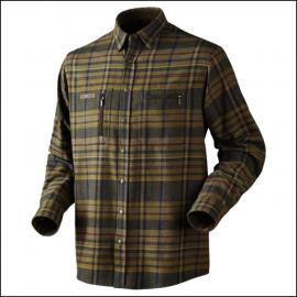 Harkila Eide Dark Olive Check Shirt 1