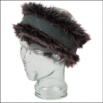Hoggs of Fife Sherborne Tweed-Faux Fur Reversible Headband 1